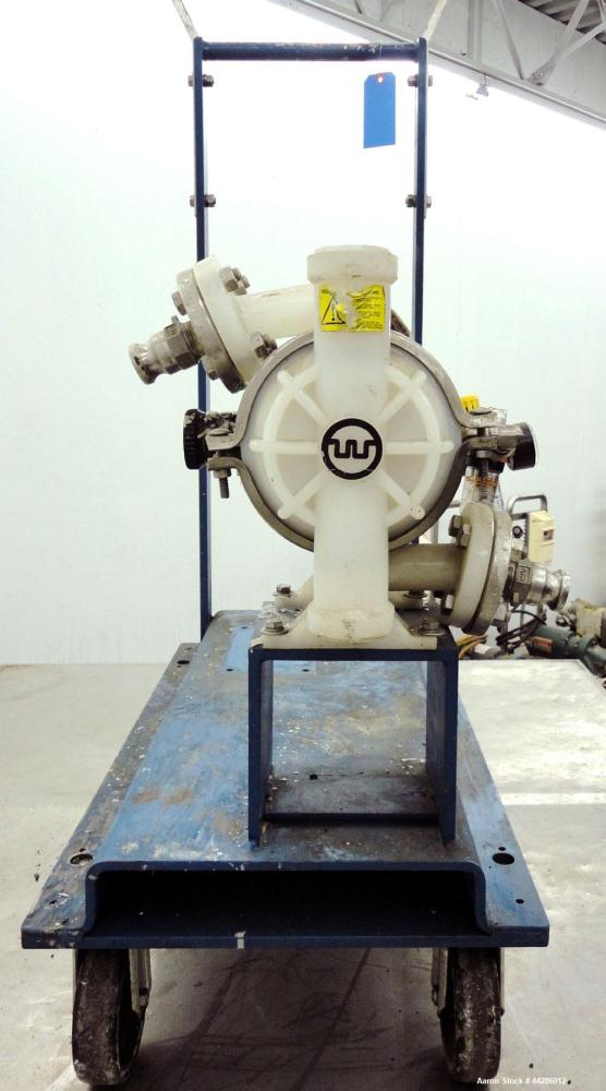 Used- Wilden Air Operated Double Diaphragm Pump, Model M2/KPPT/VT/VT/KTV/400, Polypropylene. Rated approximate 10 gallons pe...