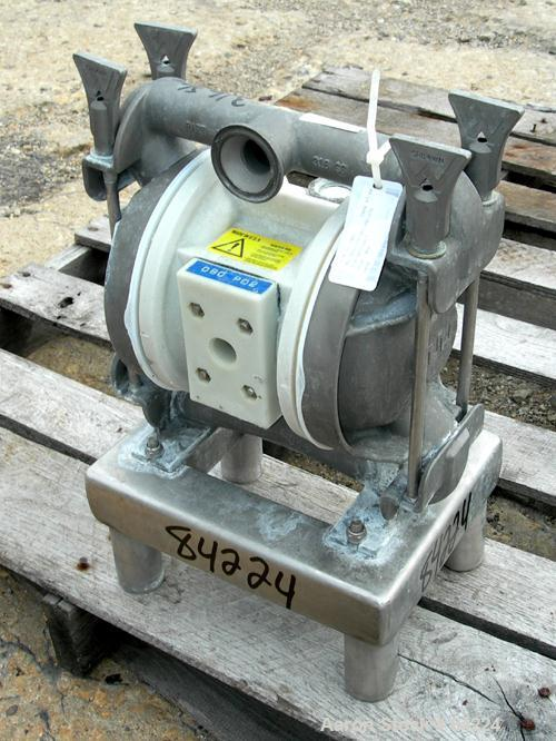 USED: Wilden air operated double diaphragm pump, model T2/SPPN/TF/TF/STF/070, 316 stainless steel. Rated 35 gallons per minu...