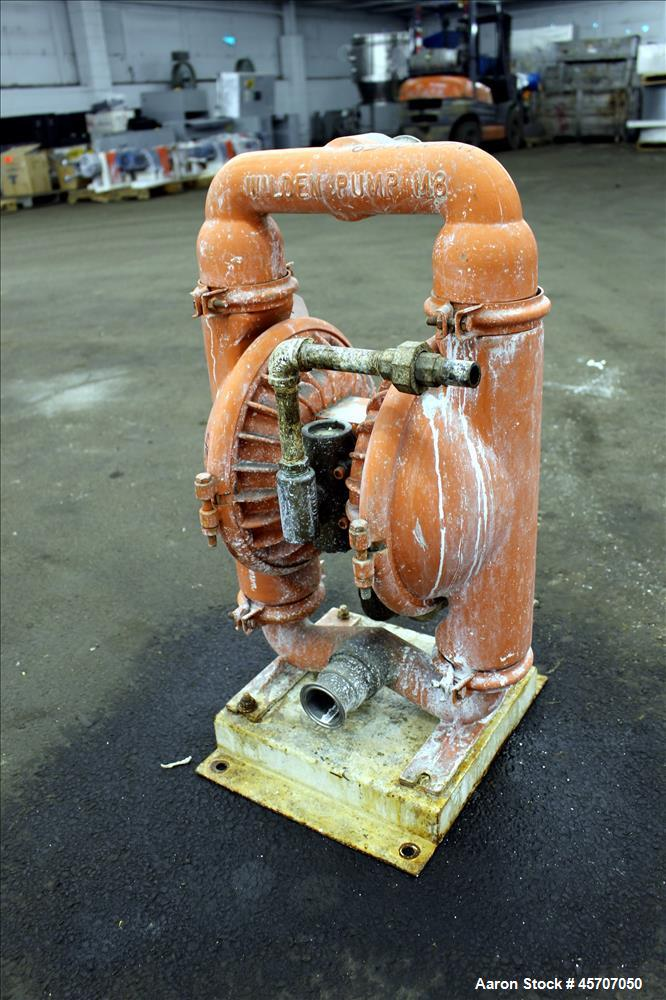 "Used-Wilden Air Operated Double Diaphragm Pump, Model M8, 316 Stainless Steel. 2"" inlet/outlet. Rated approximate 158 gallon..."