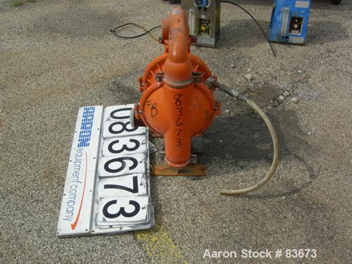 """USED: Wilden Air Operated Double Diaphragm Pump, model M8, 316 stainless steel. Rated 156 gallons per minute, 125 psi, 1/4"""" ..."""