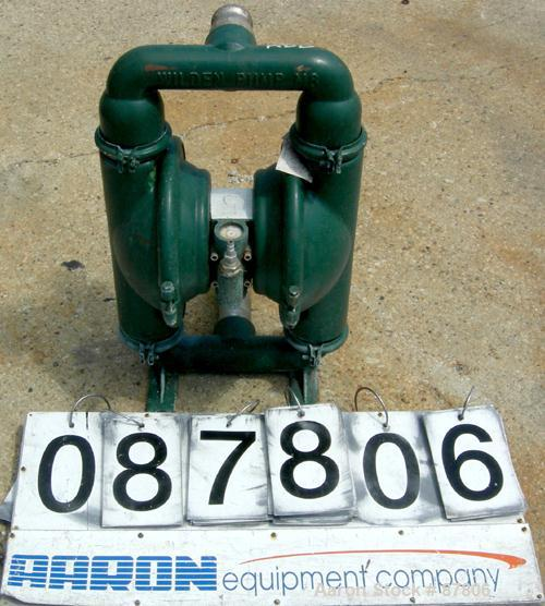 """USED: Wilden air operated double diaphragm pump, model M8, 316stainless steel. Rated 163 gallons per minute, 1/4"""" max solids..."""