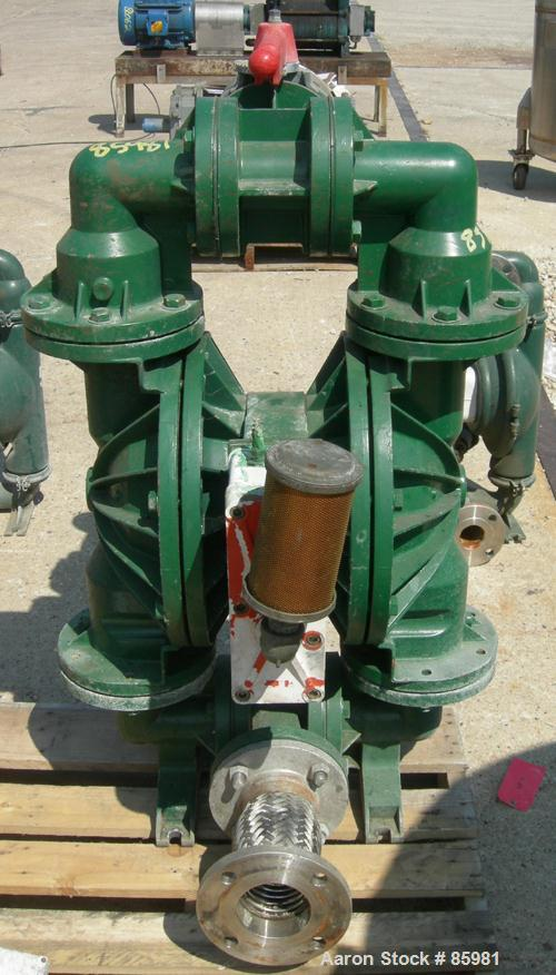 """Used- Wilden Air Powered Double Diaphragm Pump, Aluminum. 3"""" inlet/outlet."""