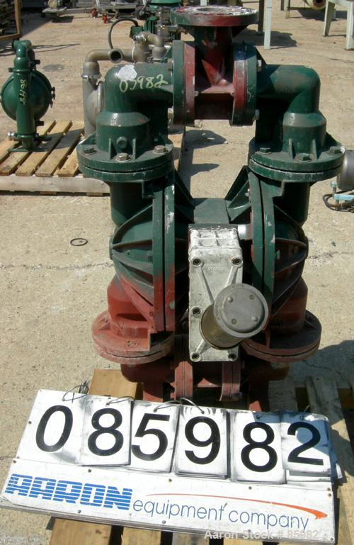 "Used- Wilden Air Powered Double Diaphragm Pump, Aluminum. 3"" inlet/outlet."