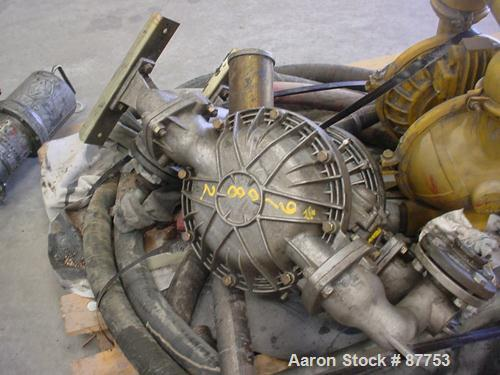 """Used- Yamada Air Powered Double Diaphragm Pump, Model NDP-50BAT, Aluminum. 2"""" Inlet/Outlet."""