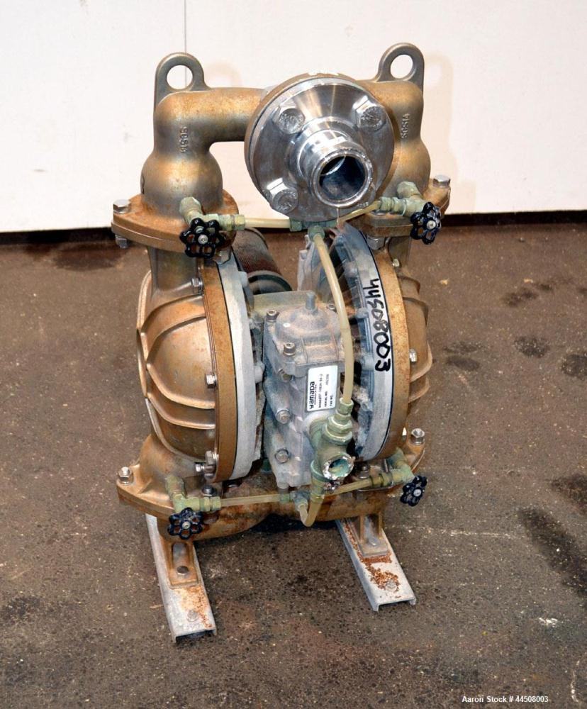 Used- Yamada Air Operated Diaphragm Pump, Model NDP-50BSH-BH-2, 316 Stainless Steel. Hytrel diaphragm material. Rated maximu...