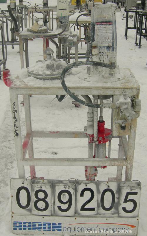 "USED: Graco displacement pump, model 220-553, 304 stainless steel. Designed for low pressure medium volume. 1-1/2"" NPT inlet..."