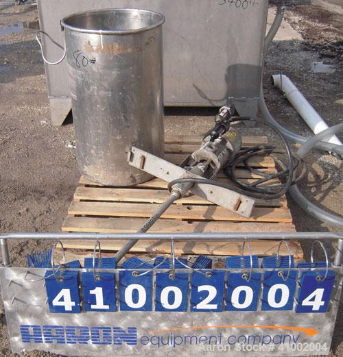 Used- Graco Air Operated President Drum Pump, Model 224-348, Series L92A, 304 stainless steel. Rated 3 gallons per minute at...