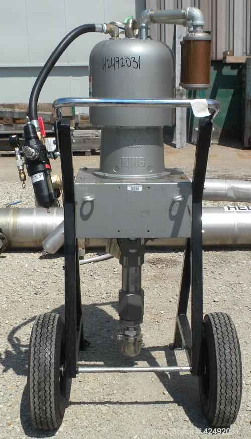 Used- Graco Air Operated King Dura-Flo Circulation Pump, Part #237286, Series B03B, 304 Stainless Steel. Rated 3.4 gallons p...