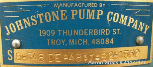 """Used- Johnstone Air Operated 55 Gallon Drum Unloading Pump, Model 8-348-DE, carbon steel. Approximately 8"""" air motor, ratio ..."""
