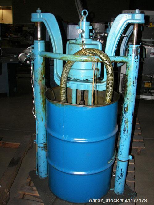 Used- Carbon Steel Johnstone Air Operated 55 Gallon Drum Unloading Pump, Model 8-348-DE
