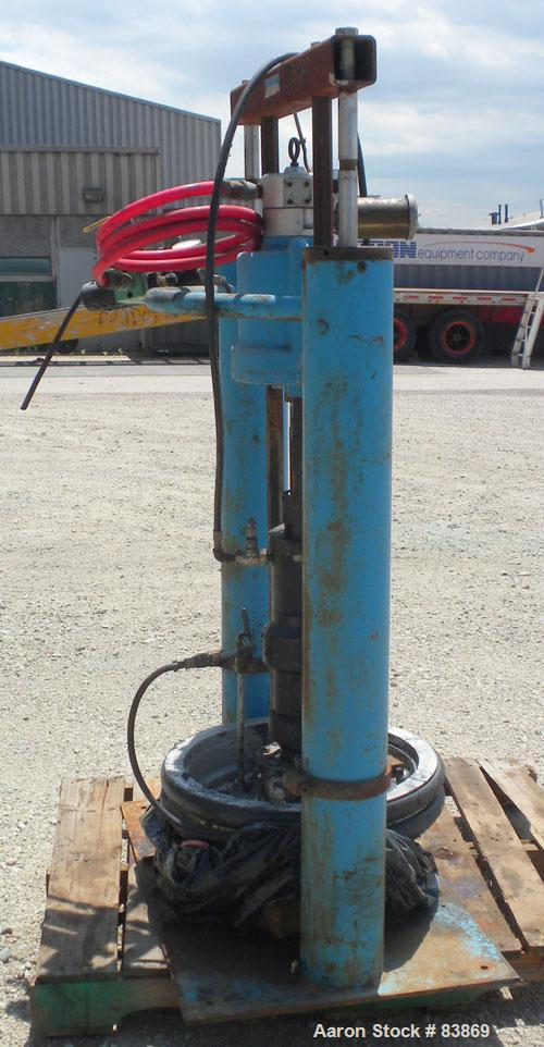 "Used- Johnstone Air Operated 55 Gallon Drum Unloading Pump, Model 98KLXGC3AX. 8"" Air motor, ratio 42:1, 20 psi to 100 psi op..."