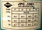 USED: Johnstone air operated 55 gallon drum unloading pump, model JPC 1001, size S1-8-HDE. 8
