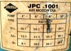 USED: Johnstone air operated 55 gallon drum unloading pump, model JPC 1001. 8