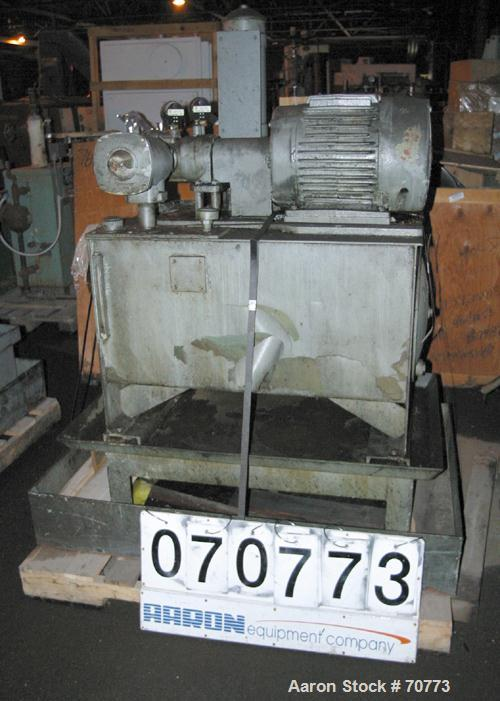 Used- Vickers Hydraulic Power Pack, Model VC-108-GD-0-3DB6. Driven by a 7.5 hp, 3/60/230/460 volt, 1165 rpm motor, approxima...