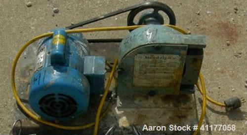 Used-Randolph peristaltic pump, model 750, carbon steel construction. Hose capacities 1-1/16 OD, 3/4 ID to 15/16 OD, 5/8 ID....