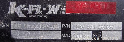 Used- ABB Instrumentation K-Flow Mass Flow Meter, Model K-500, 316 stainless steel. Sensor 88044. Mass meter control box. Ap...