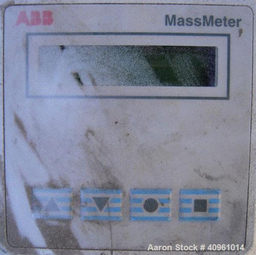 Used- ABB InstrumentationK-Flow Mass Flow Meter, Model K-500, 316 stainless steel. Sensor 88044. Mass meter control box, mo...