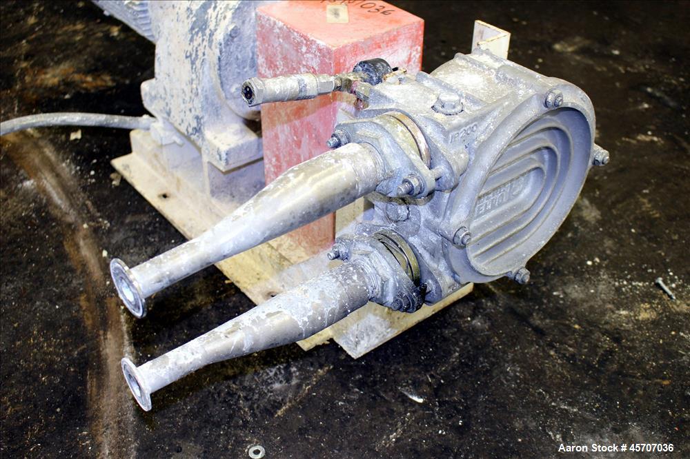 Used- Alfa Laval/Depa Elro Peristaltic Hose Pump, Model IP 200, Aluminum Housing. Approximate 8.37 gallons per minute. Maxim...