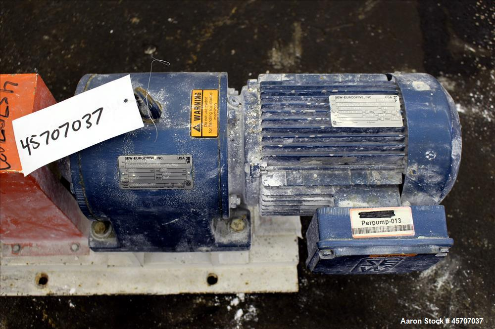 Used- Alfa Laval/Depa Elro Peristaltic Hose Pump, Model IP 200, Aluminum Housing. Approximate 8.37 gallons per minute, maxim...