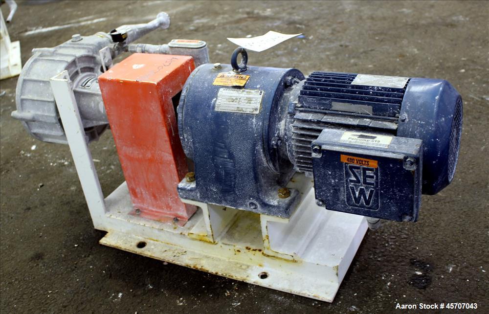 Used- Alfa Laval/Depa Elro Peristaltic Hose Pump, Model IP 200, Aluminum Housing. Approximate 8.37 gallons per minute, maxim...