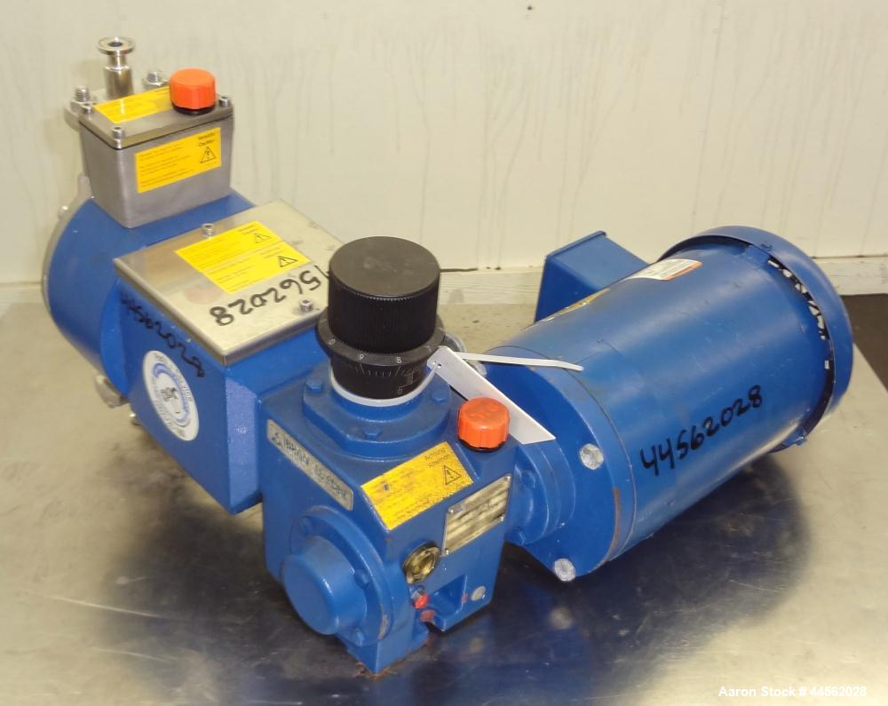 """Used- Bran+Luebbe Metering Pump, Model P31 39/2, 316 Stainless Steel. Approximate gallons per hour. Approximate ½"""" inlet out..."""