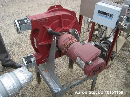"Used-Bredel Hose Pump, Type SPX/40.  1-1/2"" Inlet/outlet.  Driven by a 3 hp, 3/60/230/460 volt motor."
