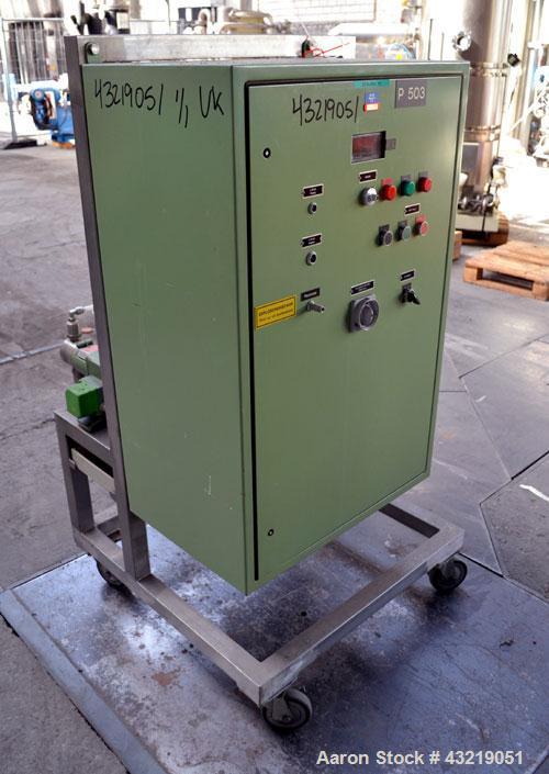 Used- Lewa Metering Pump, Type HK16-3, Stainless Steel. (3) 30mm Pump heads, each 133 liter per hour (0.58 gallons per minut...
