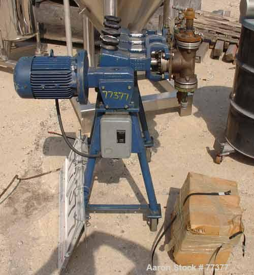 Used- Lewa Metering Pump, Model HL4. Consists of 4 pump heads, stroke rate of 150 per min, 400 kg (881 lbs) piston rod stren...