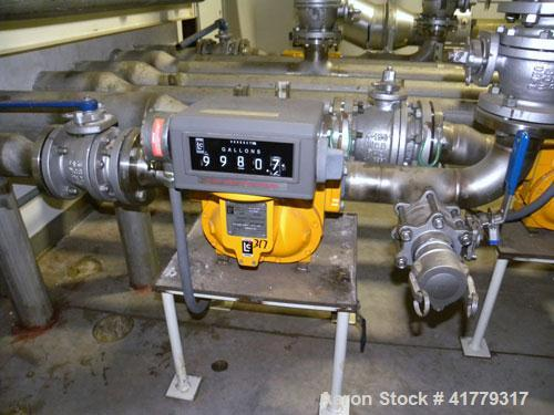 Used- Liquid Controls Group Positive Displacement Meter, Model M-15-15. Flow rate 40-200 gallons per minute, maximum pressur...