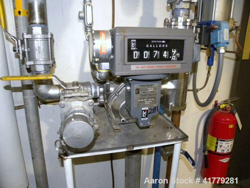 Used- Liquid Controls Group Positive Displacement Meter, Model M-7-8. Flow rate 20-100 gallons per minute, maximum pressure ...