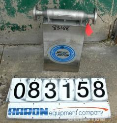 Used- Stainless Steel Micro Motion Flow Meter, Model D100S-SS