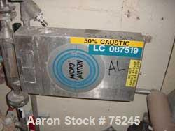 """Used- Micro Motion Flow Meter, Model DS100H134, Type 25, Factor 18676, Stainless Steel. 1"""" Inlet/outlet. Temp range -240 deg..."""