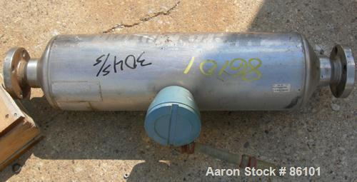 Used- Micro Motion Straight Tube Flow Meter, Model T150T641SQBAEZZZ, 304 Stainless Steel. Rated volume 0 to 383 gallons per ...