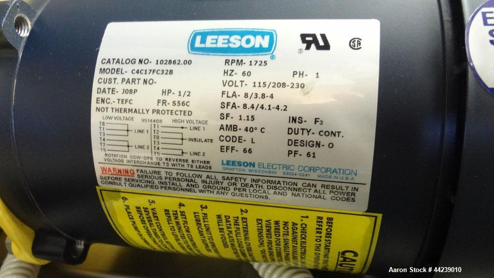 Unused- Milton Roy P Series Metering Pump, Model RP111724FRSESEM2NN, 316 Stainless Steel. Rated 939 gallons per hour, 0.165 ...