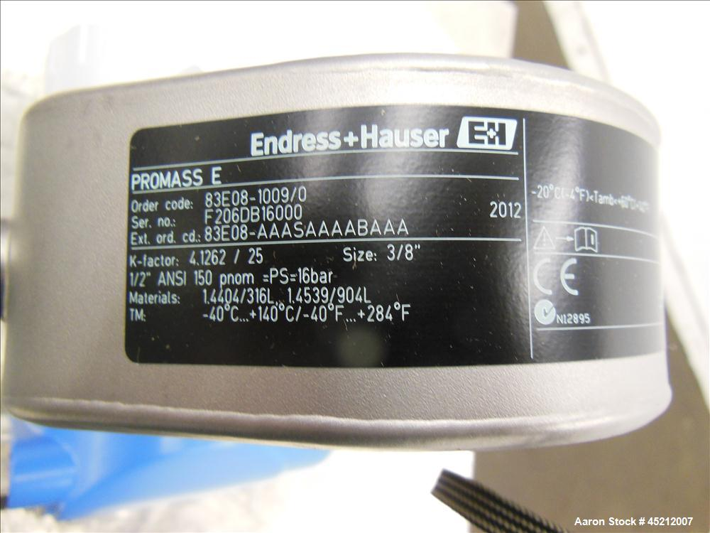 Unused- Stainless Steel Endress + Hauser EH Proline Promass 83 Corialis Flow Meter