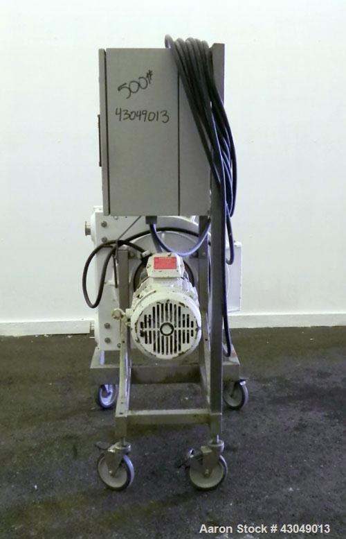 Used- Waston-Marlow Hose Pump. 2'' Tri-clamp inlet/outlet. Driven by a 5 hp, 3/60/230/460 volt, 1750 rpm gear motor, ratio 3...