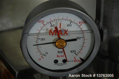 Used-APV Gaulin MCP7 High Pressure Pump, capacity 1453 gallons/hour (5500 liters/hour). Maximum working pressure 725 psi (50...