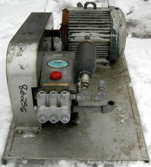 """USED- Cat Triplex Piston Pump, Model 1050, 316 Stainless Steel. Approximately 10 gallons per minute. 1"""" NPT inlet, 3/4"""" NPT ..."""