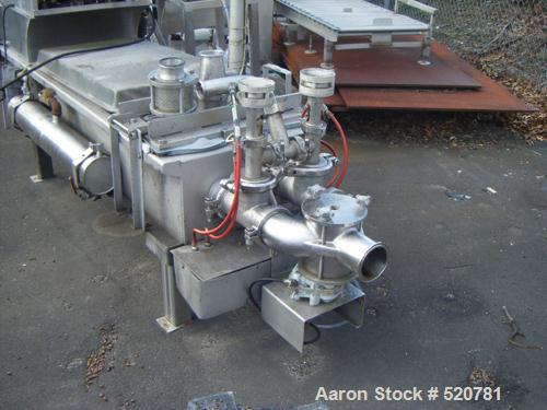 """USED: Marlen piston pump, model 629. 6"""" diameter, stainless steel, continuous duty. Last used on jelly/food product."""