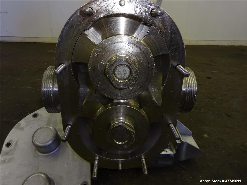 Used- Waukesha Universal Rotary Positive Displacement Pump, Model 130