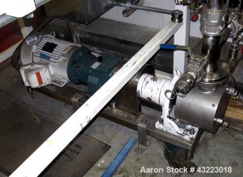 Used-Maso Pump for Trishaft Mixer, 7.5 hp
