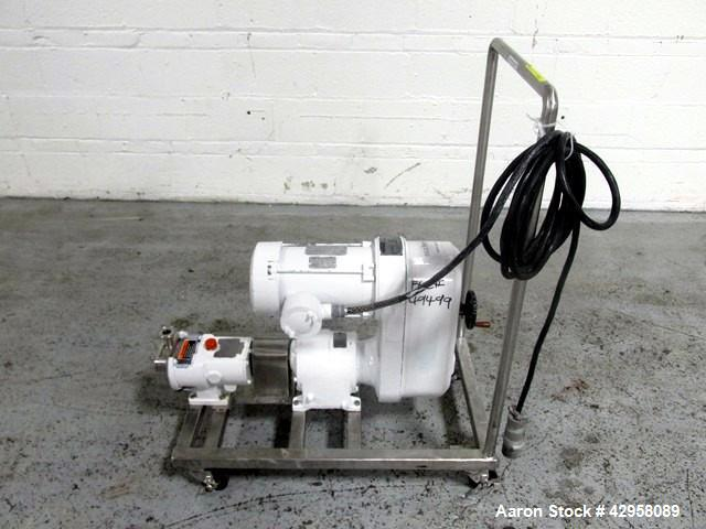 "Used-  Alfa-Laval Rotary Lobe Pump, Type GHPD-322. Stainless steel construction, 1"" inlet and outlet, with 1.5 hp, 208-230/4..."