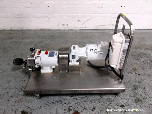 "Used- Alfa-Laval Rotary Lobe Pump, Type GHPD-422. Stainless steel construction, 1"" inlet and outlet, with 1hp, 208-230/460 v..."