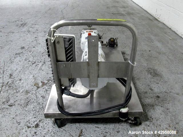 """Used- Alfa-Laval Rotary Lobe Pump, Type GHPD-422. Stainless steel construction, 1"""" inlet and outlet, with 1hp, 208-230/460 v..."""