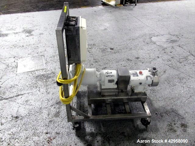 "Used-  Alfa-Laval Rotary Lobe Pump, Type GHPD-432. Stainless steel construction, 1.5"" inlet and outlet, with 2 hp, 230/460 v..."