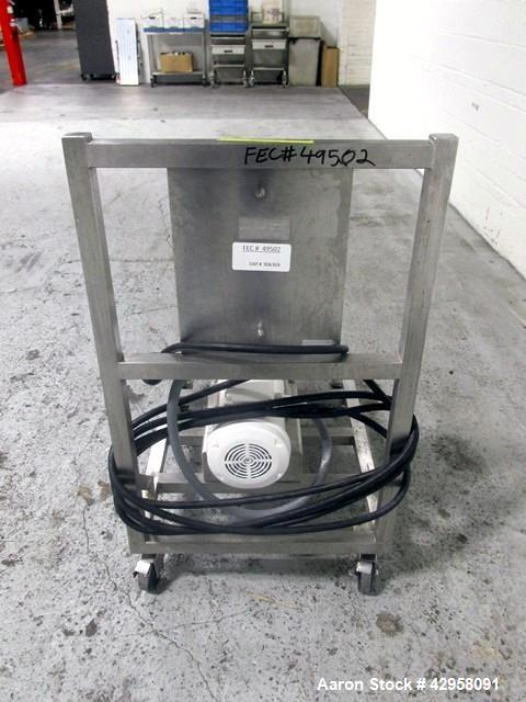 """Used- Alfa-Laval Rotary Lobe Pump, Model SRU1/008/HD. Stainless steel construction, 1.5"""" inlet and outlet, with 1 hp, 230/46..."""