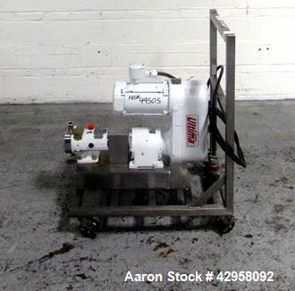 "Used- Alfa-Laval Rotary Lobe Pump, Model SRU1NLD-10MGE4CB. Stainless steel construction, 1"" inlet and outlet, with 1.5 hp, 2..."