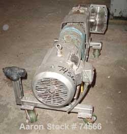 USED: APV rotary positive displacement pump, model R6, 316 stainless steel. Approx 150 gallons per minute capacity, 67.2 cu ...