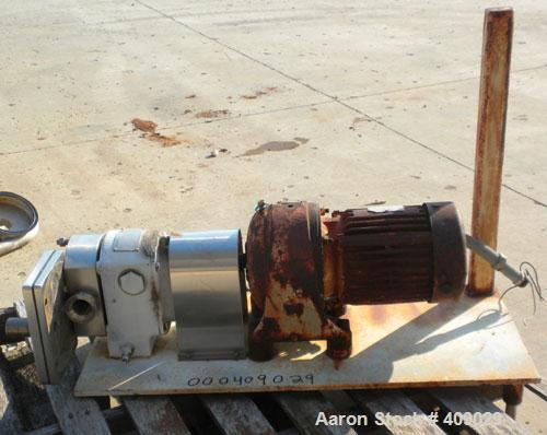 Used- CrepacoRotaryPositive DisplacementPump, ModelR3R, 316 Stainless Steel.  Approximately36 gallons per minute at600 rpm. ...