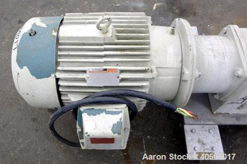 Used- Fristam Horizontal Rotary Positive Displacement Pump, Model FKL250, 316 Stainless Steel. Approximate capacity 324 gall...